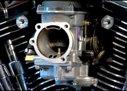 CV carburetor on Harley Twin Cam engine